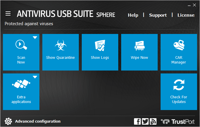 TrustPort USB Antivirus Sphere Screen shot