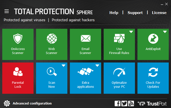 TrustPort Total Protection Sphere full screenshot